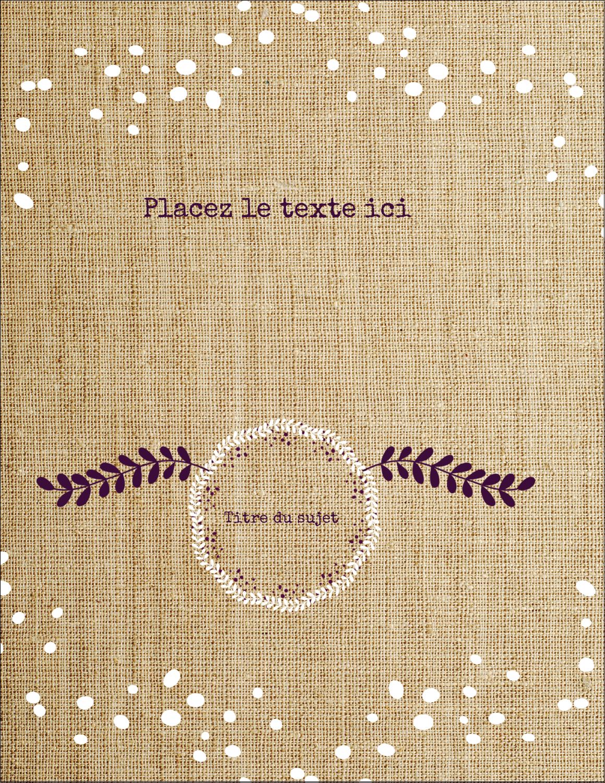 """8½"""" x 11"""" Cartes Et Articles D'Artisanat Imprimables - Toile à frange"""
