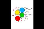 Quatre ballons Cartes Et Articles D'Artisanat Imprimables - gabarit prédéfini. <br/>Utilisez notre logiciel Avery Design & Print Online pour personnaliser facilement la conception.