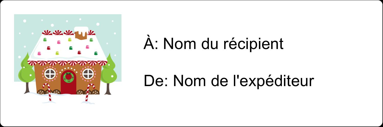 """8½"""" x 11"""" Intercalaires / Onglets - Maison en pain d'épices"""