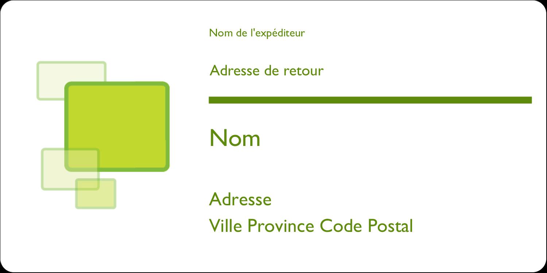 """3-7/16"""" x ⅔"""" Étiquettes de classement écologiques - Carrés verts arrondis"""