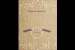 Toile à frange Affichette - gabarit prédéfini. <br/>Utilisez notre logiciel Avery Design & Print Online pour personnaliser facilement la conception.