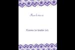 Mariage en dentelle violette Cartes Et Articles D'Artisanat Imprimables - gabarit prédéfini. <br/>Utilisez notre logiciel Avery Design & Print Online pour personnaliser facilement la conception.