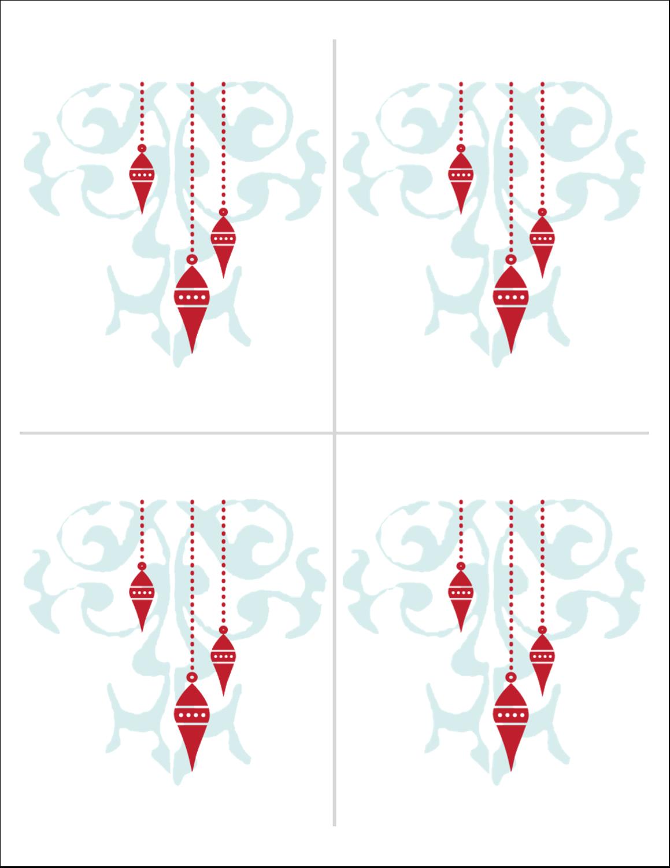 """5½"""" x 8½"""" Cartes Et Articles D'Artisanat Imprimables - Noël élégant"""