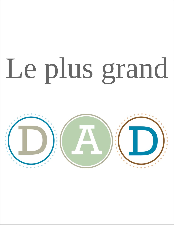 """8½"""" x 11"""" Cartes Et Articles D'Artisanat Imprimables - Fête des Pères"""