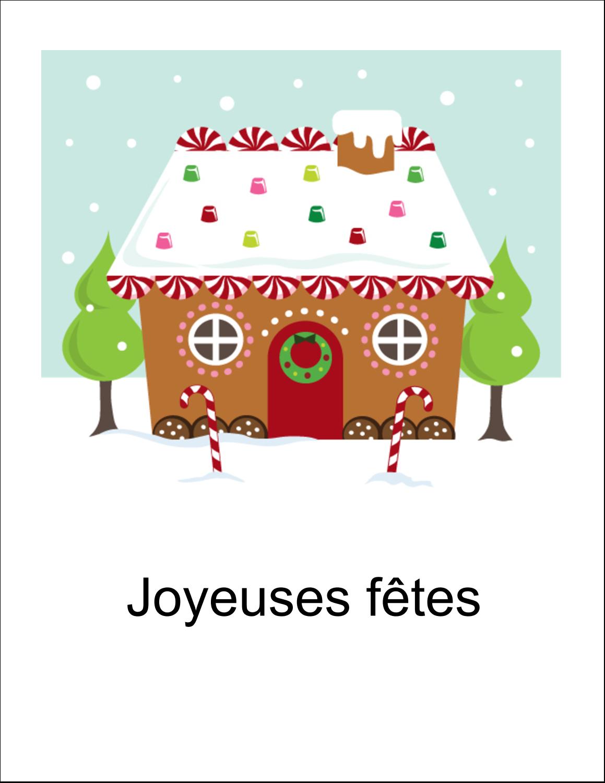 """5½"""" x 8½"""" Cartes Et Articles D'Artisanat Imprimables - Maison en pain d'épices"""
