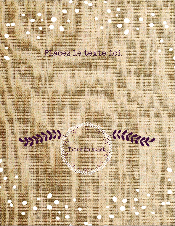 """5½"""" x 8½"""" Cartes de souhaits pliées en deux - Toile à frange"""
