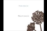Silhouette de fleur Étiquettes D'Identification - gabarit prédéfini. <br/>Utilisez notre logiciel Avery Design & Print Online pour personnaliser facilement la conception.