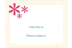 Lignes jaunes Étiquettes D'Identification - gabarit prédéfini. <br/>Utilisez notre logiciel Avery Design & Print Online pour personnaliser facilement la conception.