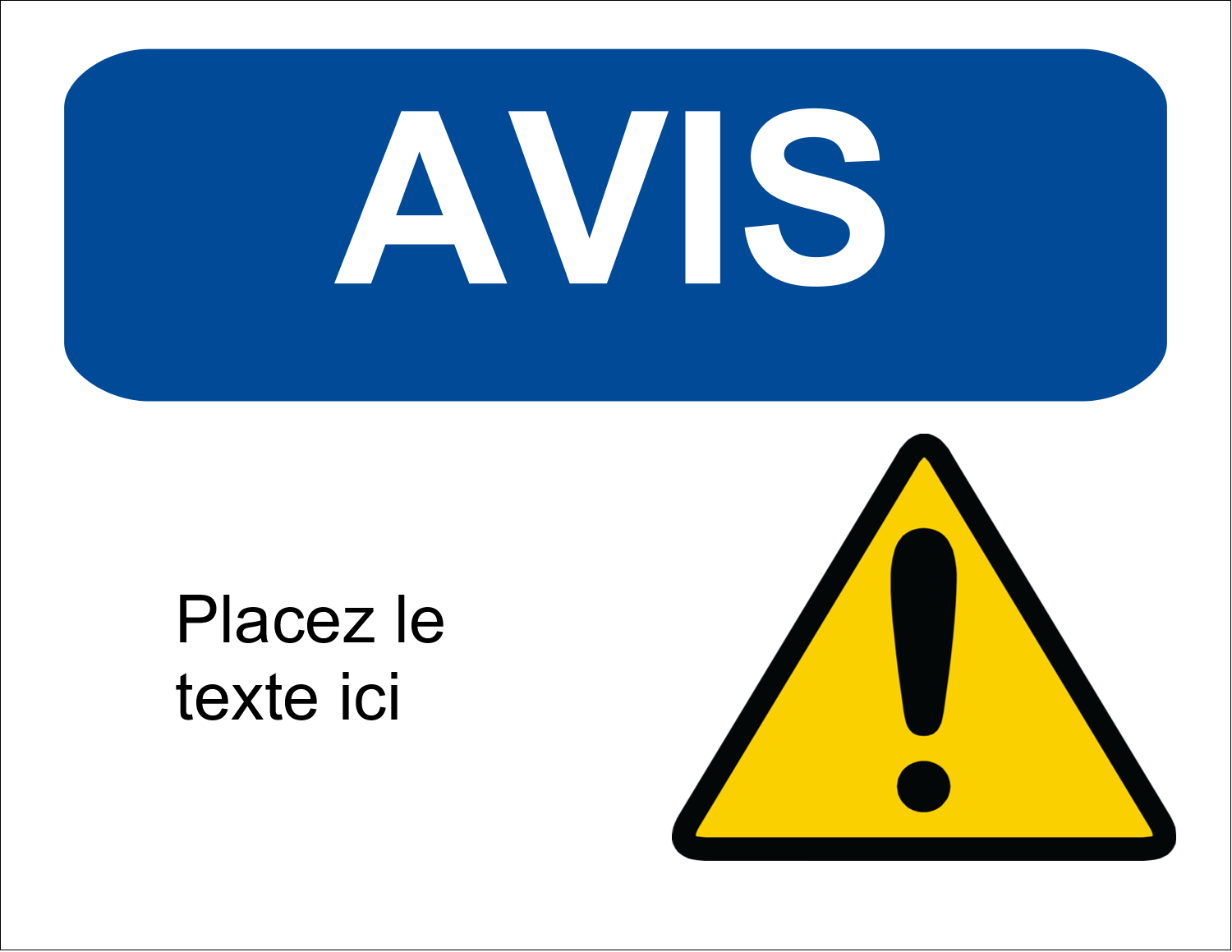 """11"""" x 8½"""" ID Label - Notice Restricted"""