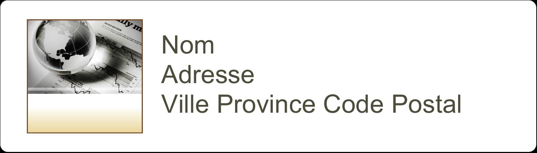 """1"""" x 2⅝"""" Étiquettes D'Adresse - Rapport financier"""