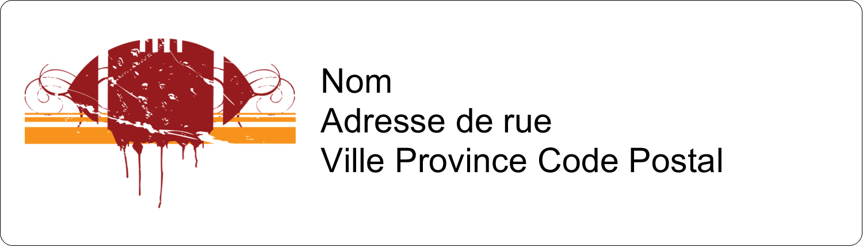 "½"" x 1¾"" Étiquettes D'Adresse - Football débraillée"