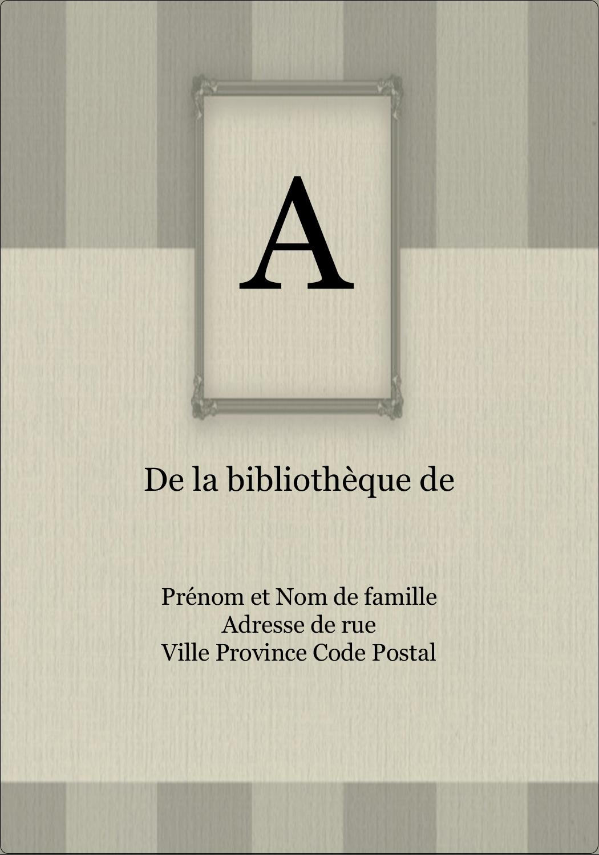 """3½"""" x 5"""" Étiquettes d'expéditions - Initiale ex-libris"""