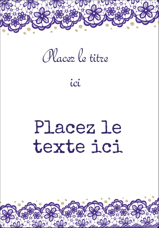 """⅔"""" x 1¾"""" Étiquettes D'Adresse - Mariage en dentelle violette"""