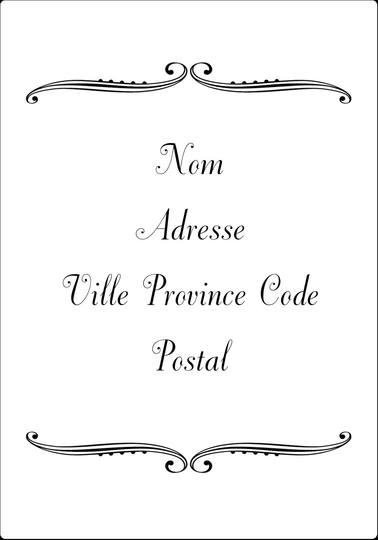 """⅔"""" x 1¾"""" Étiquettes D'Adresse - Le mariage fantaisiste de Martha Stewart"""