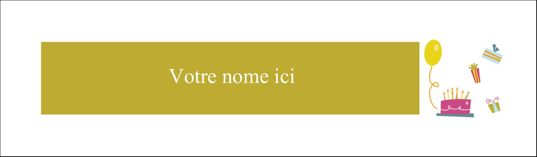"""3½"""" x 11"""" Cartes Pour Le Bureau - Fête d'anniversaire"""