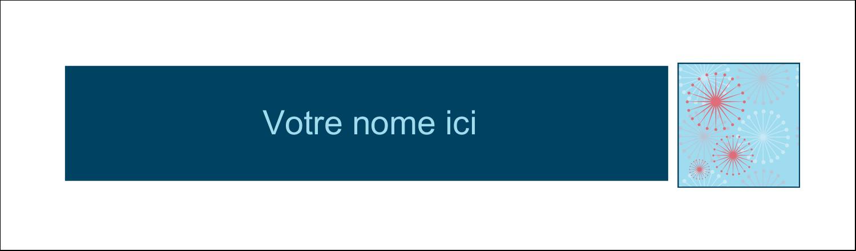 """3½"""" x 11"""" Cartes Pour Le Bureau - Célébration simple"""