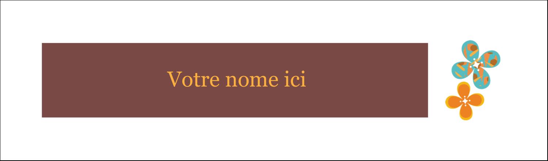 """3½"""" x 11"""" Cartes Pour Le Bureau - Motif fleuri"""