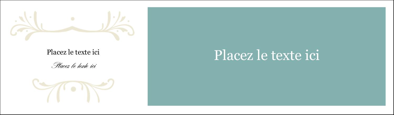 """3½"""" x 11"""" Cartes Pour Le Bureau - Filigrane vert"""