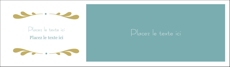 """3½"""" x 11"""" Cartes Pour Le Bureau - Filigrane"""