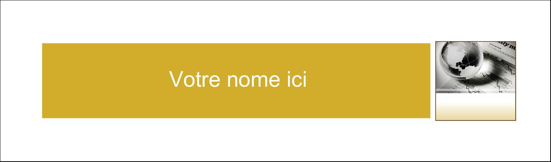 """3½"""" x 11"""" Cartes Pour Le Bureau - Rapport financier"""