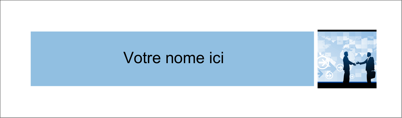 """3½"""" x 11"""" Cartes Pour Le Bureau - Poignée de main professionnelle"""