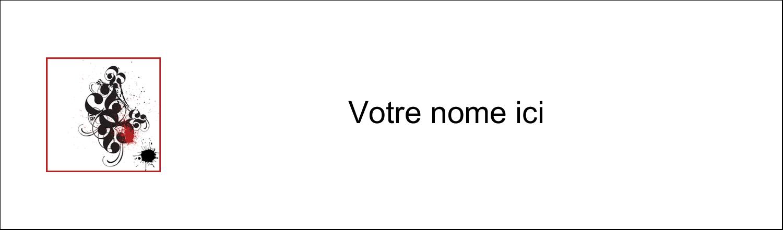 """3½"""" x 11"""" Affichette - Fioritures dramatiques"""