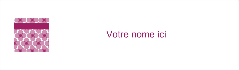 """3½"""" x 11"""" Affichette - Fleurs violettes"""
