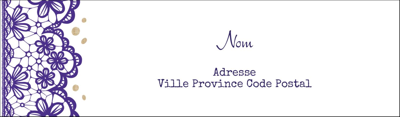 """3½"""" x 11"""" Affichette - Mariage en dentelle violette"""