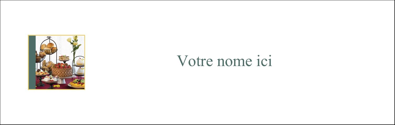 """4¼"""" x 5½"""" Cartes Pour Le Bureau - Pain et dessert"""