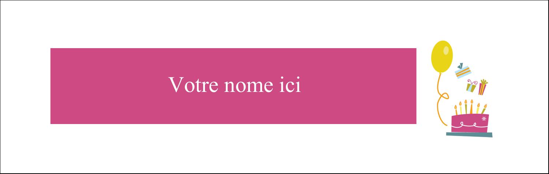 """4¼"""" x 5½"""" Cartes Pour Le Bureau - Fête d'anniversaire"""