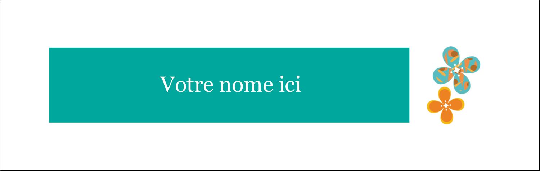 """4¼"""" x 5½"""" Cartes Pour Le Bureau - Motif fleuri"""