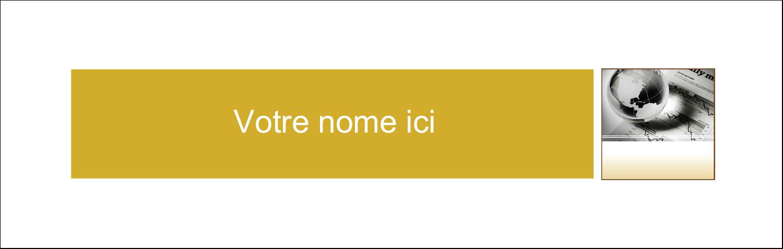 """4¼"""" x 5½"""" Cartes Pour Le Bureau - Rapport financier"""