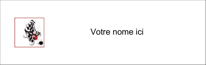"4¼"" x 5½"" Carte de note - Fioritures dramatiques"