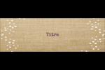 Toile à frange Cartes de notes - gabarit prédéfini. <br/>Utilisez notre logiciel Avery Design & Print Online pour personnaliser facilement la conception.