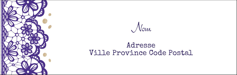 """4¼"""" x 5½"""" Cartes de notes - Mariage en dentelle violette"""
