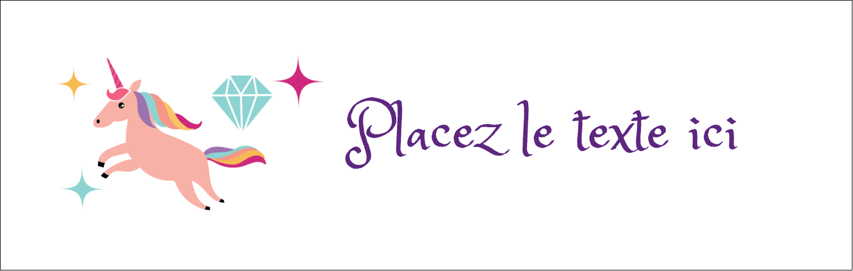"4¼"" x 5½"" Carte de note - Licorne en fête"