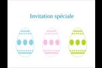 Trio d'œufs de Pâques Cartes de notes - gabarit prédéfini. <br/>Utilisez notre logiciel Avery Design & Print Online pour personnaliser facilement la conception.