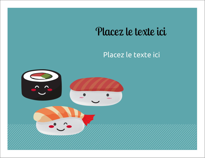 """8½"""" x 11"""" Cartes Et Articles D'Artisanat Imprimables - Émoticônes de sushis"""