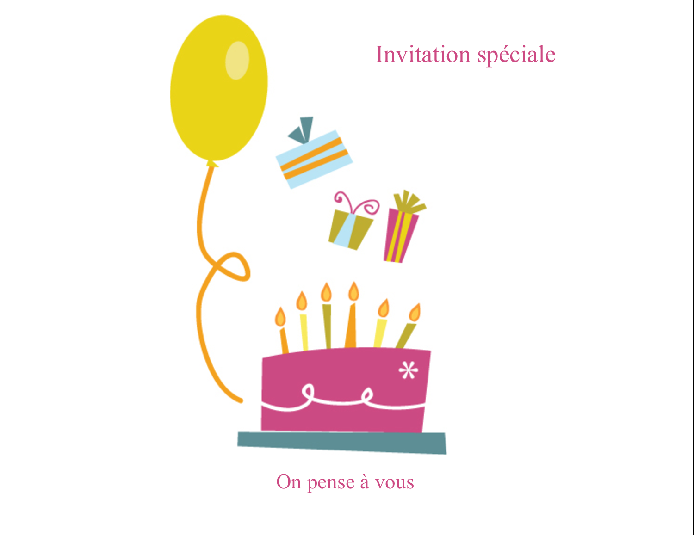 """8½"""" x 11"""" Cartes Et Articles D'Artisanat Imprimables - Fête d'anniversaire"""