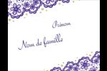 Mariage en dentelle violette Cartes de notes - gabarit prédéfini. <br/>Utilisez notre logiciel Avery Design & Print Online pour personnaliser facilement la conception.