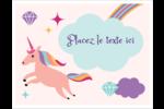 Licorne en fête Cartes Et Articles D'Artisanat Imprimables - gabarit prédéfini. <br/>Utilisez notre logiciel Avery Design & Print Online pour personnaliser facilement la conception.