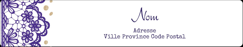 Mariage en dentelle violette Badges - gabarit prédéfini. <br/>Utilisez notre logiciel Avery Design & Print Online pour personnaliser facilement la conception.