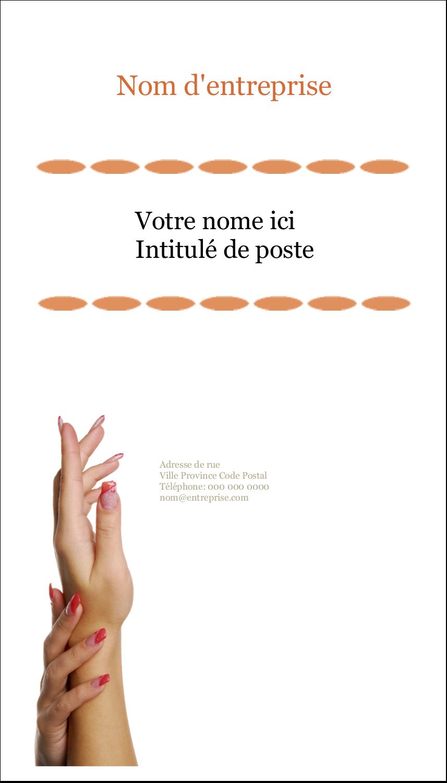 """2"""" x 3½"""" Carte d'affaire - Soins de beauté"""