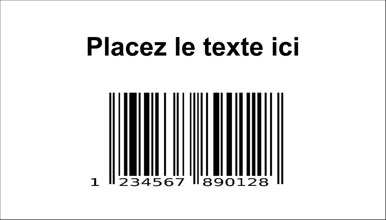 """2"""" x 3½"""" Cartes d'affaires - Code-barres de série"""