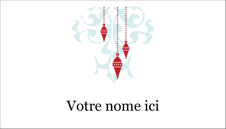 """2"""" x 3½"""" Carte d'affaire - Noël élégant"""