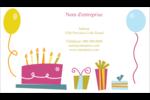Fête d'anniversaire Carte d'affaire - gabarit prédéfini. <br/>Utilisez notre logiciel Avery Design & Print Online pour personnaliser facilement la conception.