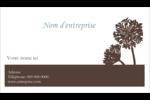 Silhouette de fleur Carte d'affaire - gabarit prédéfini. <br/>Utilisez notre logiciel Avery Design & Print Online pour personnaliser facilement la conception.