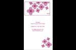 Fleurs violettes Carte d'affaire - gabarit prédéfini. <br/>Utilisez notre logiciel Avery Design & Print Online pour personnaliser facilement la conception.