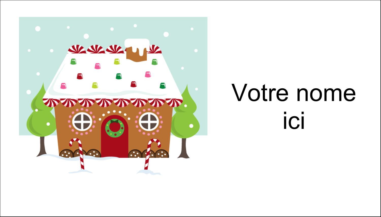 """2"""" x 3½"""" Carte d'affaire - Maison en pain d'épices"""