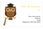 Hibou et diplôme Carte d'affaire - gabarit prédéfini. <br/>Utilisez notre logiciel Avery Design & Print Online pour personnaliser facilement la conception.